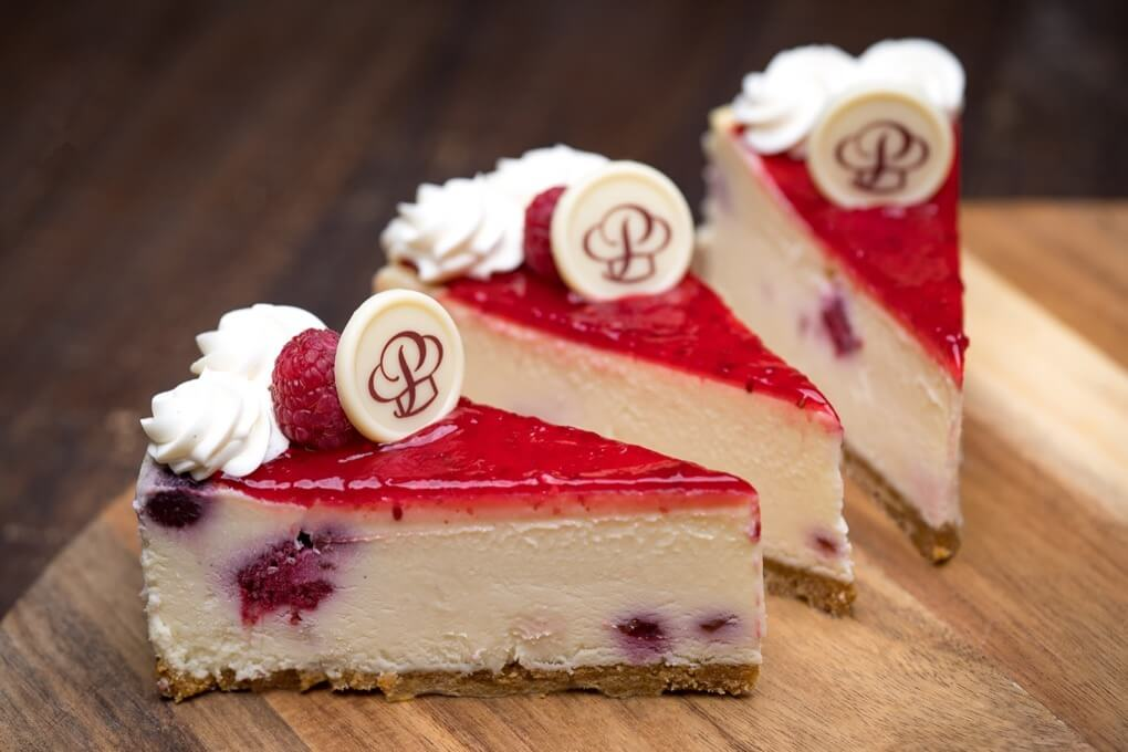 White Chocolate Raspberry Cheesecake Individual