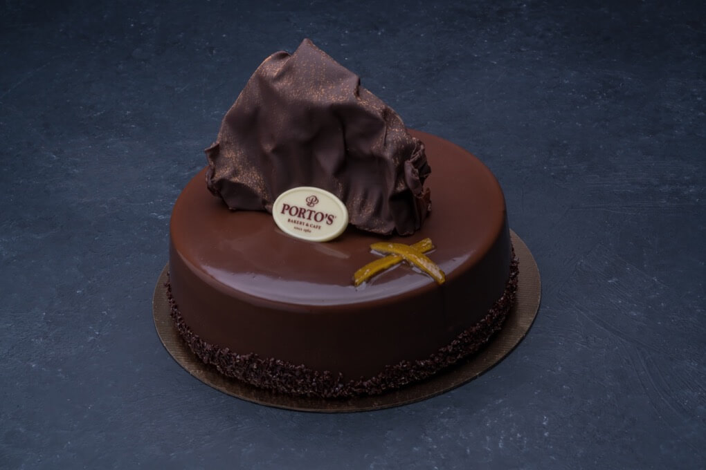 Chocolate Grand Marnier Mousse Cake 9″