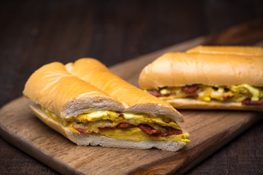 Chorizo and Egg Omelette Sandwich