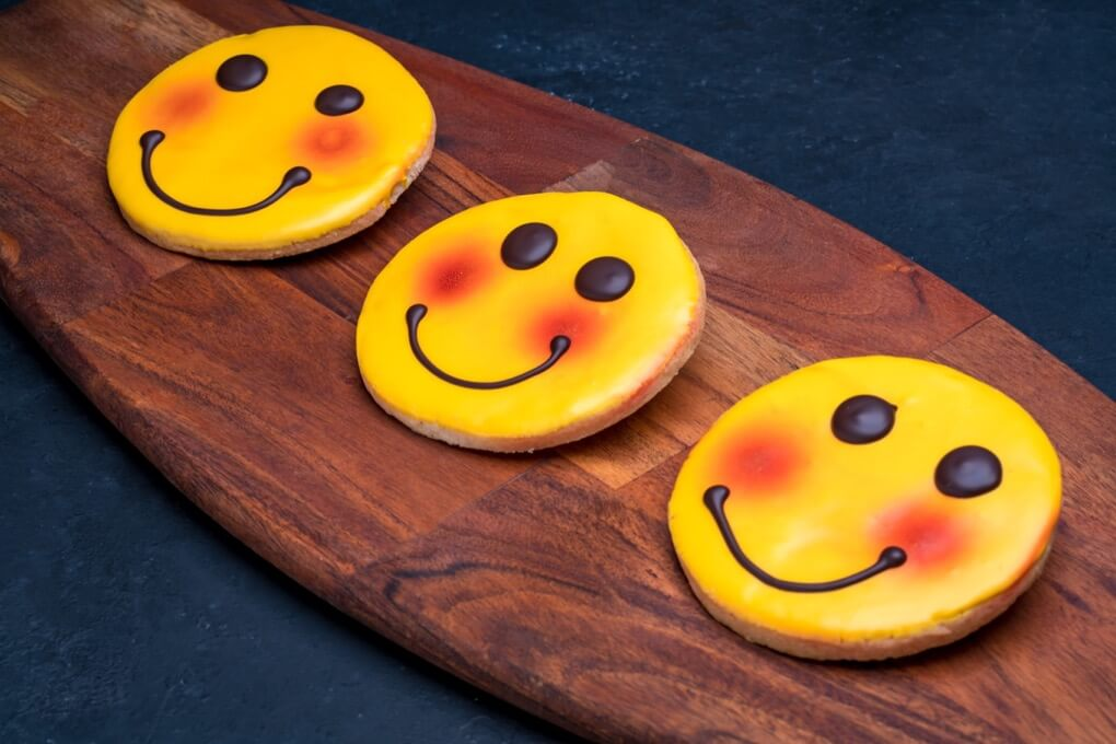 Decorated Happy Face Cookie