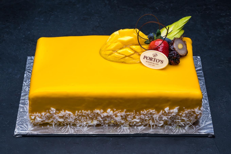 Mango Mousse Cake 1/2 Sheet