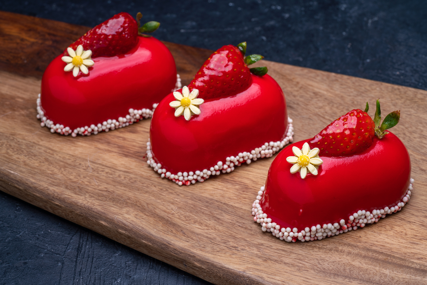 Strawberry Mousse Cake Individual