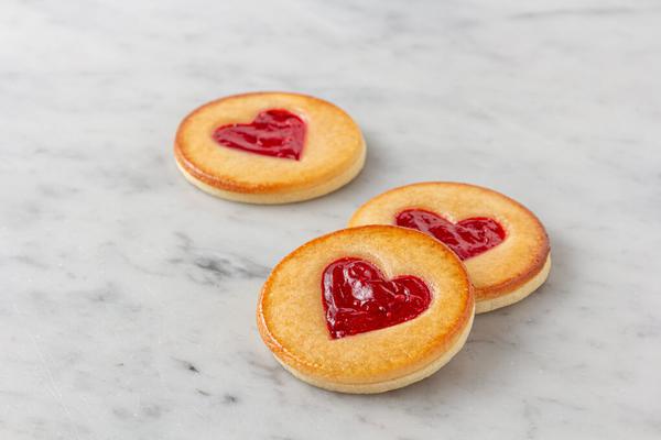 Raspberry Almond Heart Cookie
