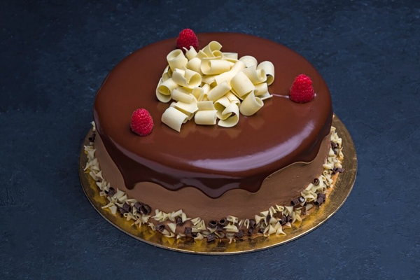 Chocolate Raspberry Cake 9″