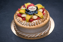Meringue Fruit Torte 9″