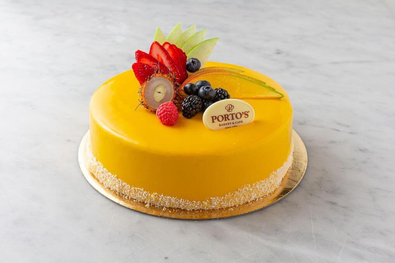 Mango Mousse Cake 9 Quot Porto S Bakery