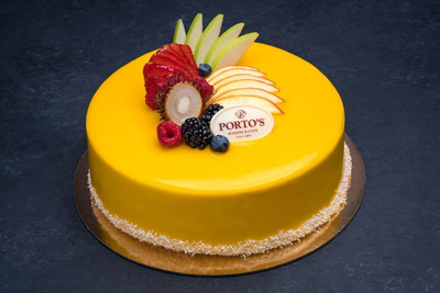 Mango Mousse Cake 9″