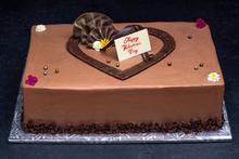 Valentine's Day Parisian Cake 1/4 sheet
