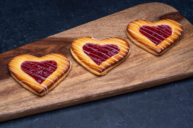 Raspberry Filled Heart Cookie