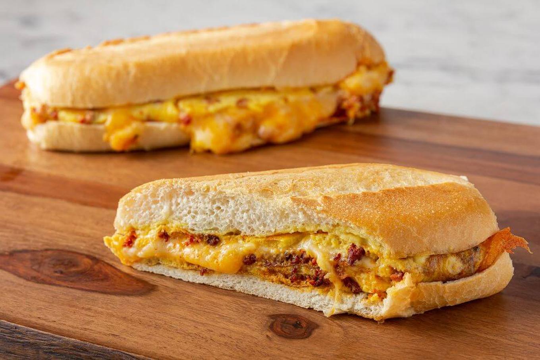 Chorizo and Egg Omelette Sandwich