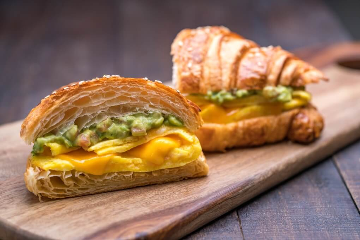 Guacamole and Cheese Omelette Sandwich