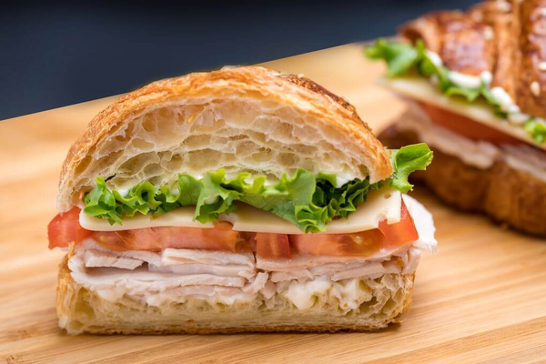 Turkey and Cheese Croissant Sandwich