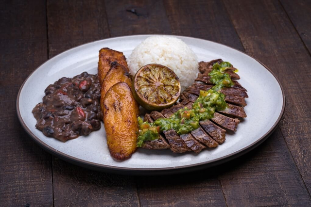 Grilled steak plato from Porto's