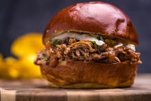 Guava BBQ Pulled Pork Sandwich