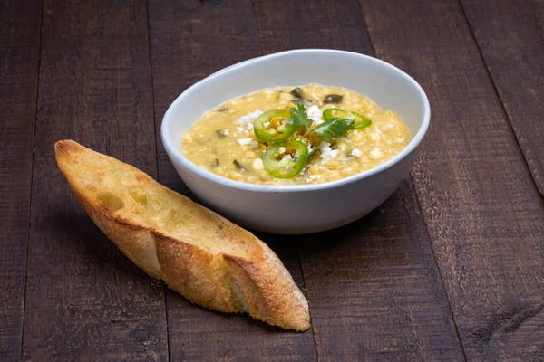 Corn & Poblano Peppers Soup