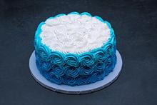 Ombre Blue Swirls Round #3807