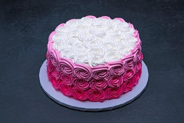 Ombre Pink Swirls Round #3811