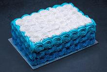 Ombre Blue Swirls Sheet #3813