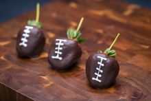 Football Themed Chocolate Covered Strawberry
