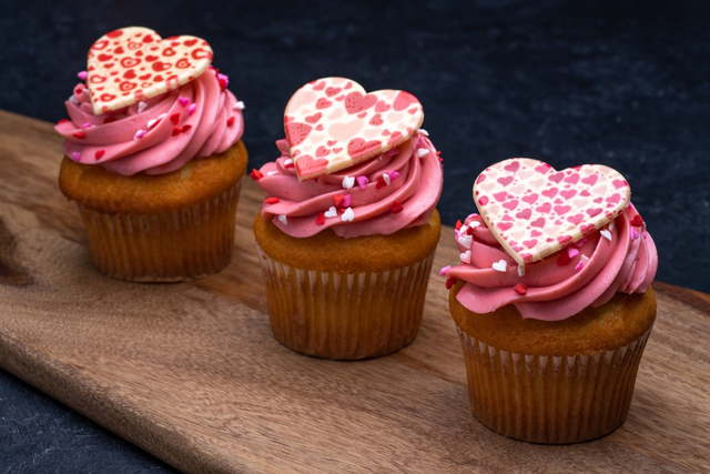 Valentine's Day Strawberry Cupcake