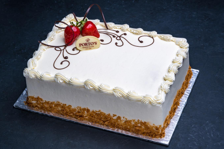 Strawberry Shortcake Cake 1/2 Sheet - Porto's Bakery