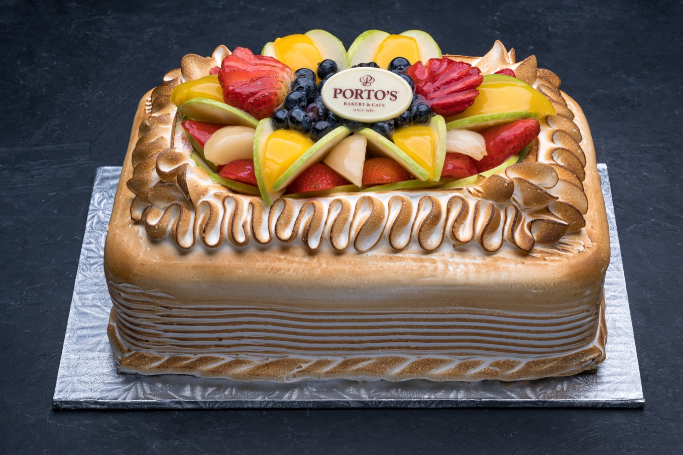 Meringue Fruit Torte 12 Sheet Portos Bakery