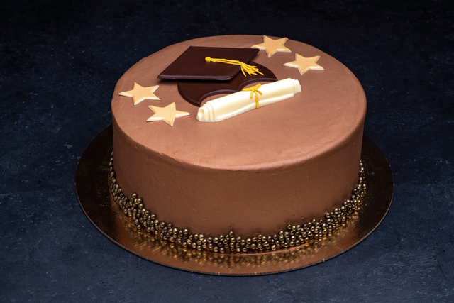 Graduation Themed Parisian Cake 9″