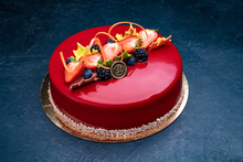 Thanksgiving Strawberry Bavarian Mousse 9″